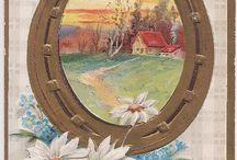 Баба яга гномы домовые на подковы обереги картинки