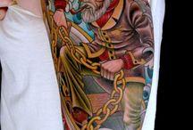 tattoos sleeve colour realistic
