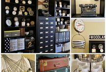 Craft storage ideas / by Diane Bartek