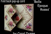 Fold back pop - up cards