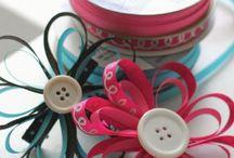 ribbons/flowers