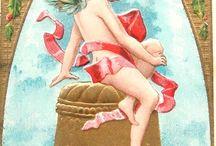 Cartes anciennes Anges Bonne année