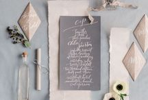 Caligraphy wedding editorial