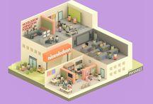 Designs - 3D / Isometric Floor Plan ( Architecture)