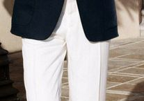 мужской стиль белые брюки