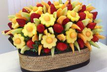 adornos con frutas