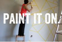 Painter's tape wall painting