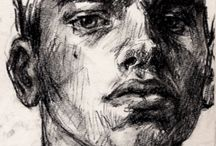 charcoal drawing face