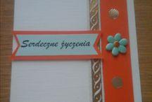 Kartki - handmade by me - ela.roza / Kartki mojego autorstwa i wykonania