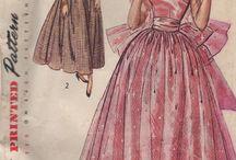 Vintage patterns evening wear