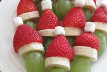 Healthy Christmas food for kids / Healthy food and treats for the children at festive parties and during the Christmas holidays