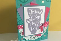 A Nice Cuppa/Cups & Kettle Framelits Card Ideas / by Laurie Graham: Avon Rep