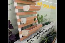 Jardim Vertical ou horta vertical
