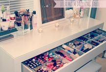 Mesas de maquiagem