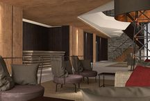 HOTEL PORTFOLIO: Grand Hotel Courmayeur Mont Blanc, Courmayeur / Renderings and some images of our architectural and interior design for this new five-star hotel in Courmayeur opening on December 19th 2014