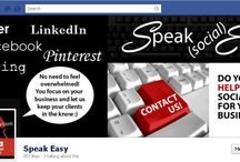 Social Media covers / Kimb's Designs for Facebook, Linked in, YouTube and Twitter headers / by Kimb Manson Grahpic Design