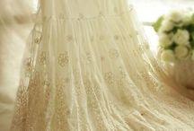 Perlas y encaje...romántico!!