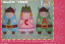 Ateliê !DEiA Criações - Nino & Nina / Criações em tecido e feltro para decoração infantil. IDEIA CRIAÇÕES
