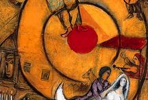 Art: Marc Chagall / French painter 1887-1985. Cubism, Expressionism