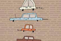 Baby boy car and vehicle ideas / Cute car illustrations