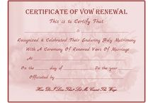 Certificate / Vows