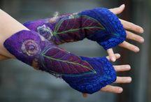guantes fieltro