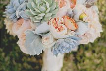 "Garden Roses / Garden Roses are one of the most popular wedding flowers in the industry, along side of the fabulous peony. Their round shape and fluffy texture lends itself to rustic, vintage, romantic, and classic designs. It's wide spread versatility and undeniable beauty make it the best flower to provide the ""wow"" factor at weddings and events.  / by BloomsByTheBox.com"