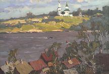 Landscapes / Пейзажи - купить картины маслом у художников / Купить пейзаж маслом, акварелью или карандашом. Продажа картин художников через интернет.