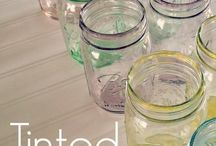 Tinted glass jars