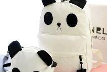 Panda cuties / Cute panda stuff : stationnary, plushies, accessories