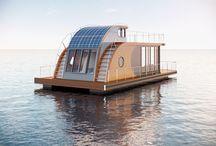 Schwimmendes Hausboot