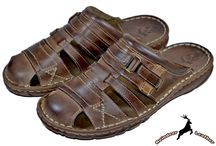 Men Leather Gladiator Beach Sandal