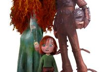 hiccup and merida / by Skylar Anderson