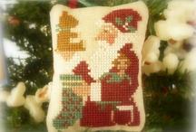 x-stitch prairie schooler santas / by Gypsy Rose