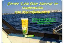 Sorteo Lote Natural Solar gracias a Macrobionatura en El Espejo de la BELLEZA