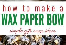 Fun with Gift Wrap / Cute and creative ways to package a gift