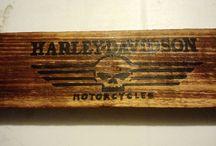 Harley Davidson wood ice chest