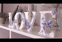 letras de mdf decoradas