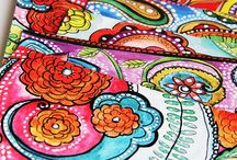 Alisa Burke / Alisa burke is an amazing artist! She make cool pillow cases, duvet covers, colouring in book and many other things that look really cool!
