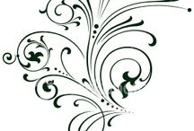 Filigree Calligraphy Letters Pattern Designs