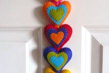 Arts & Crafts - Felt Hearts