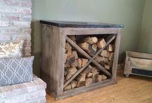 fire wood storage inside