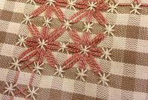 Textiles chicken scratch