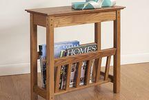 Magazine wooden rack
