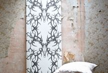 Winter's Bone - The Curator Collection / Winter's Bone is another fascinating & popular #pattern – a strong but finely drawn #skull with intricate & abstract #antlers intertwined into a spectacular,intriguing design which looks breath taking either hung as a #wallpaper, upholstered onto furniture or draped in soft furnishings. Available on Oyster Linen.  Four Colours – Ink, Dust, Charcoal & Blush. Available on Natural Flax Linen.  Two Colours – Ink & Charcoal. Wallpaper  – Dust & Charcoal. #interiors #fabricinspiration #interiordesign