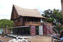 casa reciclada antigua y container / Diseño, producción y fabricación exclusiva y ecológica por www.comprarenbali.com