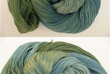 my hand dyed yarns