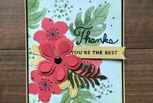 Stampin' Up! Botanical Blooms Bundle / Samples of cards and projects created with the Botanical Blooms stamp set, Botanical Gardens paper and Botanical Builders Framelits