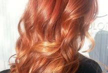 Red balayage hair