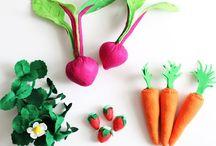 verduras de feltro